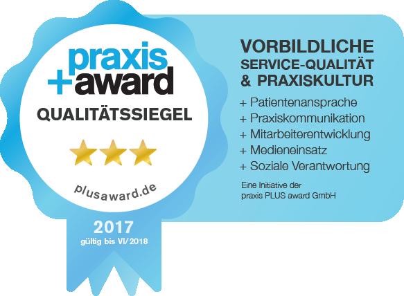 Praxisaward Qualitätssiegel 2017