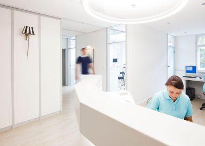 Empfang in der Zahnarztpraxis Dr. Ziebarth