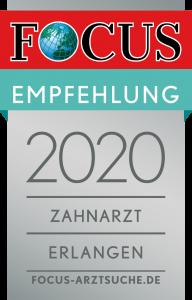 Dr. Ziebarth, empfohlen von der Redaktion von FOCUS-Gesundheits für die Region Erlangen.